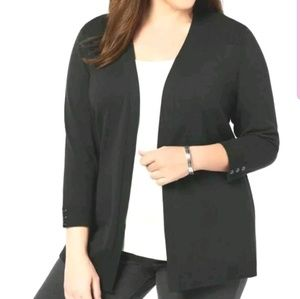 Karen Scott Plus Size 3/4-Sleeve Cardigan 1X
